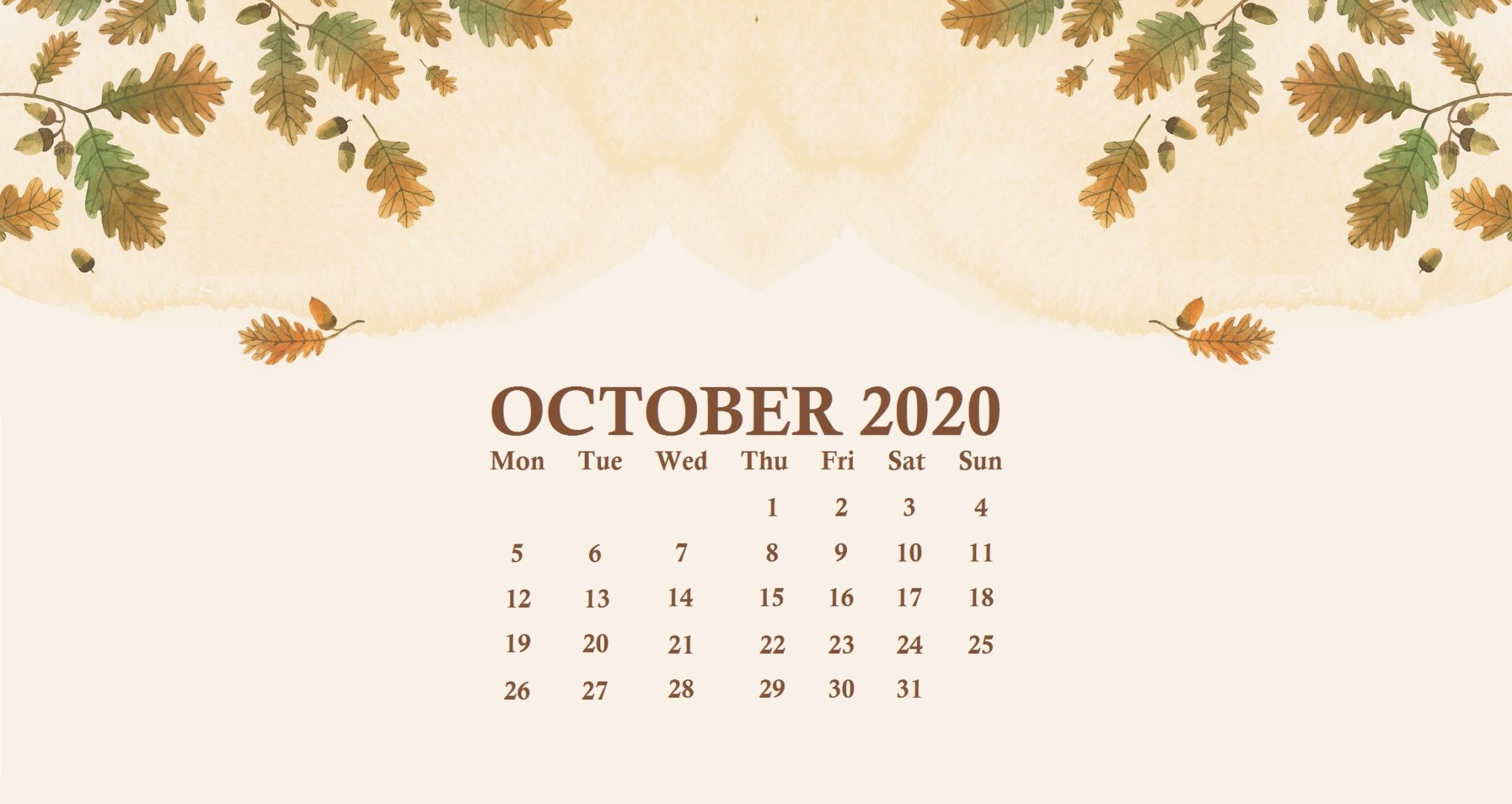 October 2020 Desktop Calendar Wallpaper In 2020 Calendar Wallpaper Desktop Wallpaper Calendar October Calendar Wallpaper