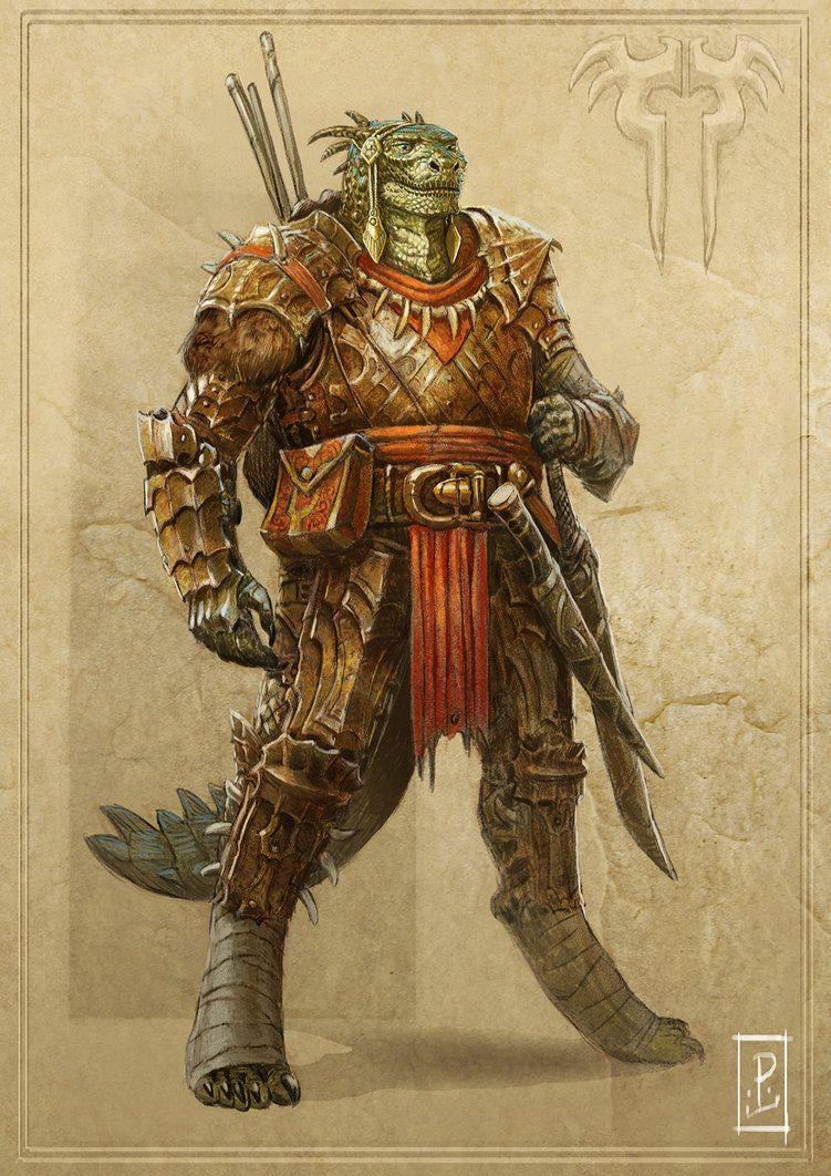 Argonian Warrior by LyntonLevengood on deviantART