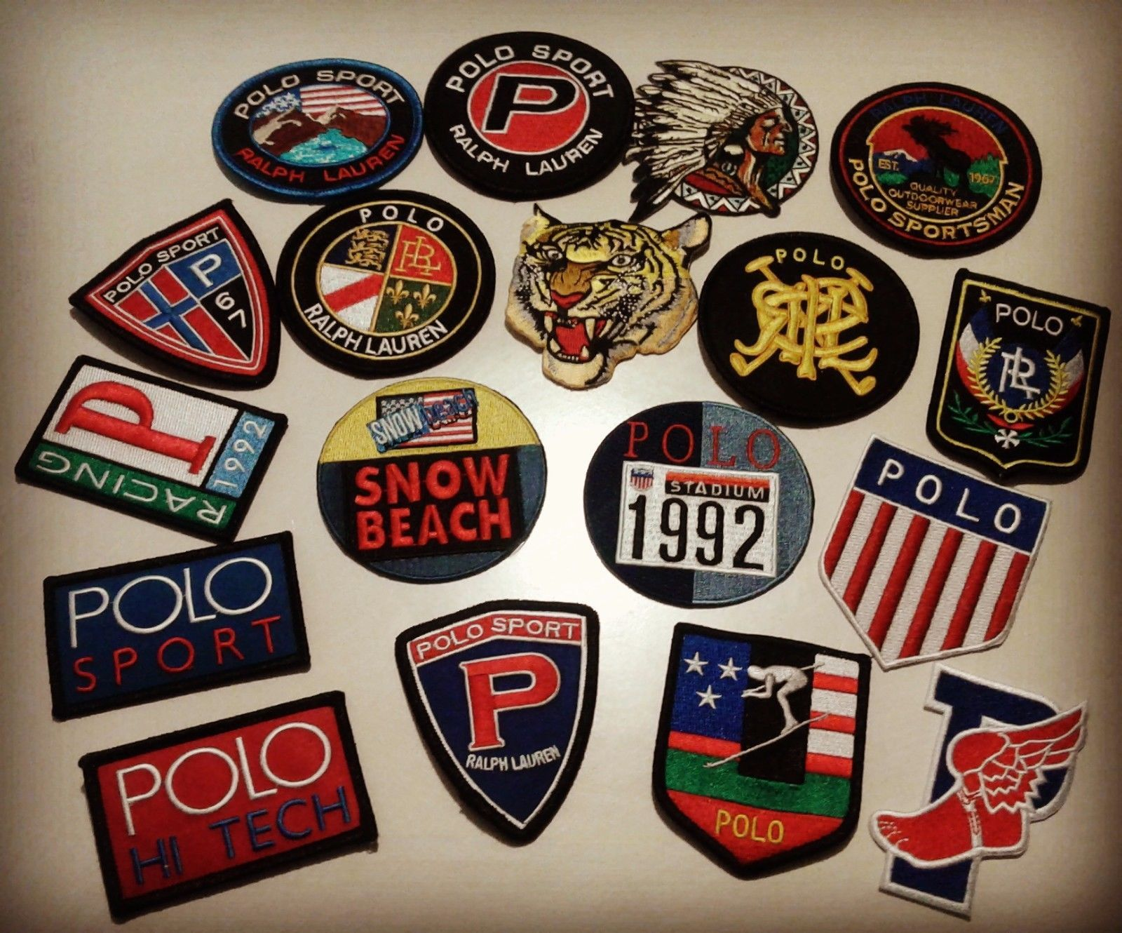 Polo Ralph Patch Patches Lauren18Piece Pack 113337Vintage tQdshr