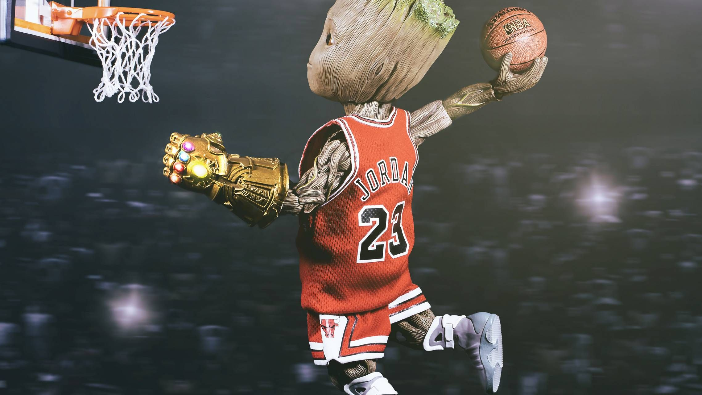 Download Groot Basketball 5k wallpaper by vivialivegsm