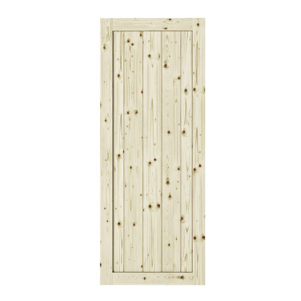 26 Inch X 84 Inch Rustic1 Panel Unfinished Knotty Pine Interior Door Slab Rustic Barn Door Barn Door