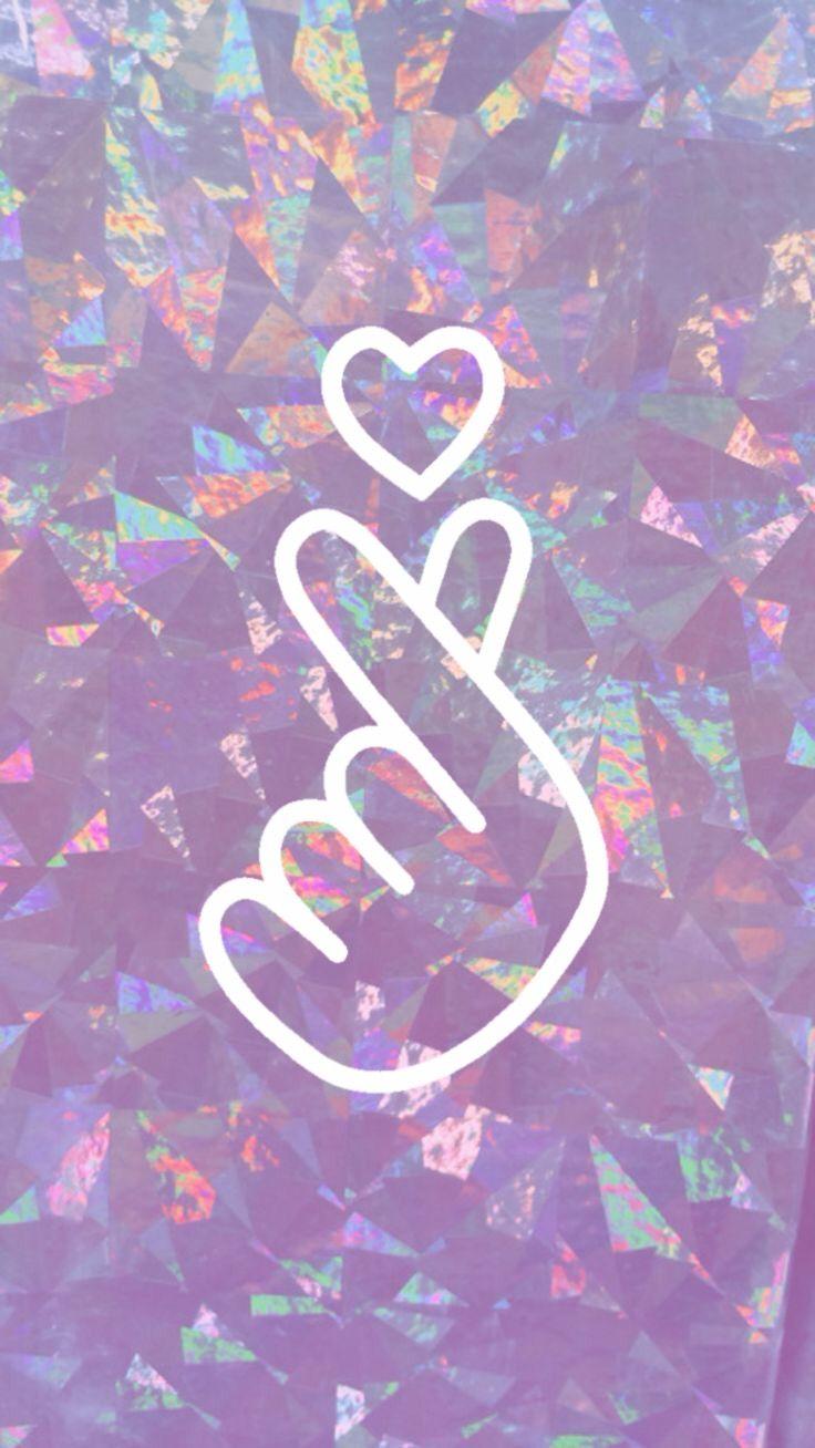 Self-made wallpaperkpop BY:~AMY SCHMITZ #kpop #wallpaper #purple #heart #bts #background # ...