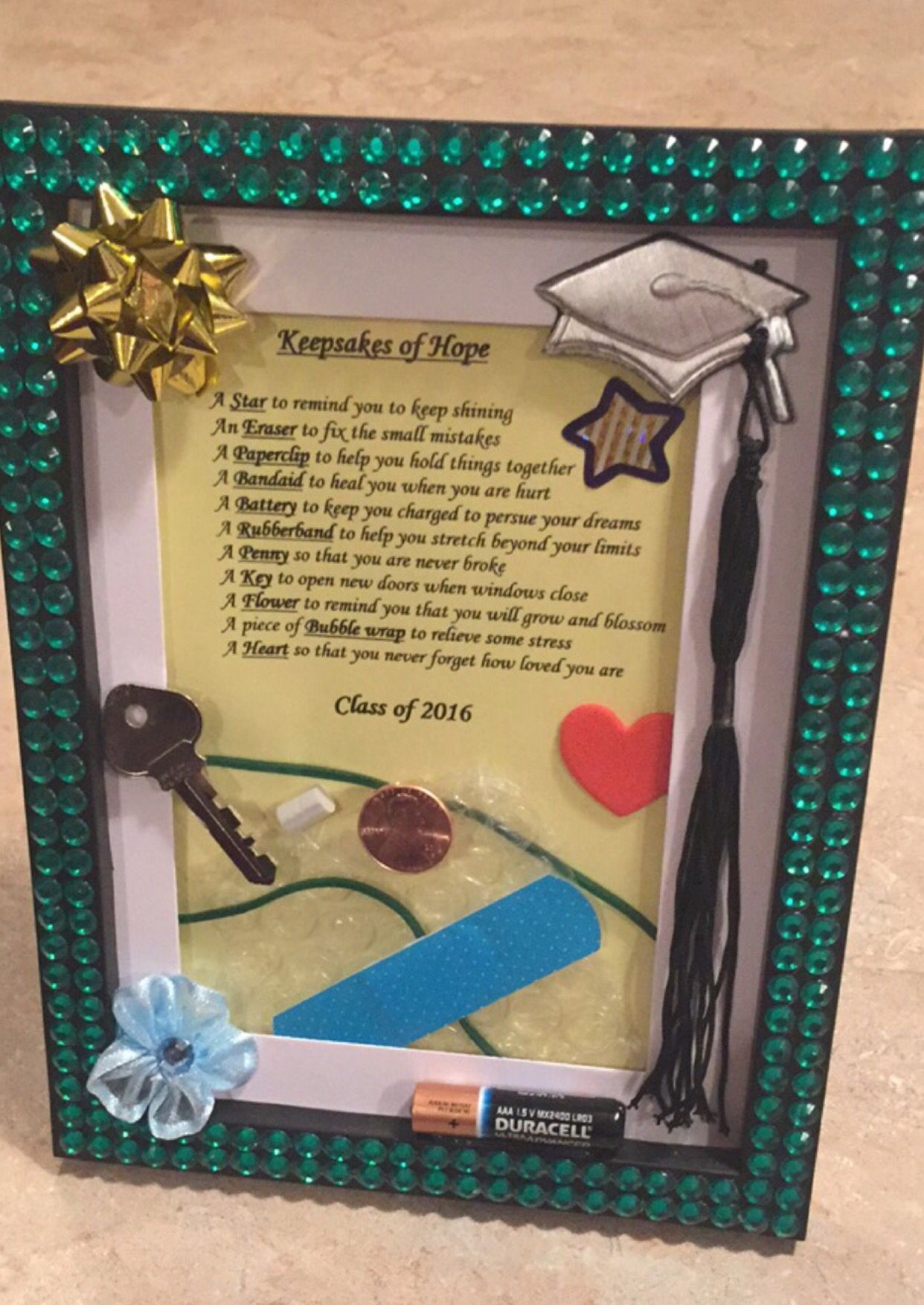 Keepsakes of Hope! The perfect DIY graduation gift or for