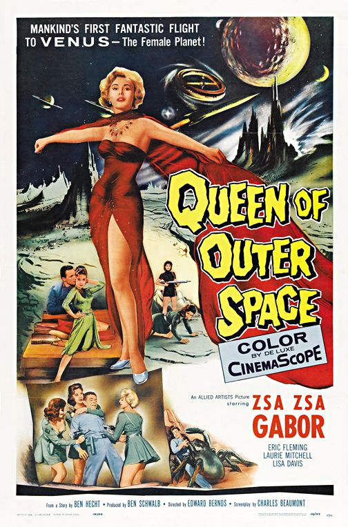 Queen Of Outer Space Vintage Horror Movie Poster Wall Art Museum Outlets Space Movie Posters Classic Horror Movies Posters Science Fiction Movie