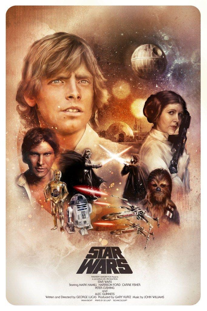 star wars tribute poster posse rey return of jedi by rich davies