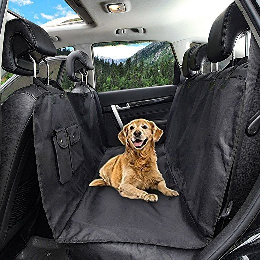 Honest Outfitters Dog Car Seat Cover With Seat Belt Pet Backseat Cover With Front Zipper Front Pocket For C Dog Car Seat Cover Dog Car Seats Pet Seat Covers