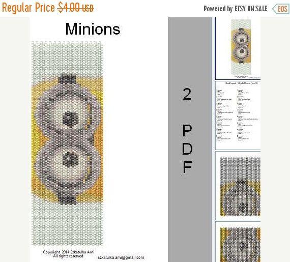 Summer Sale 15% Minions Peyote Loom Pattern Art by BeadingPattern