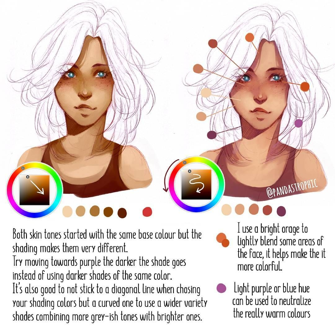 Some Tips On How I Chose Colours For Shading Skin Left Is
