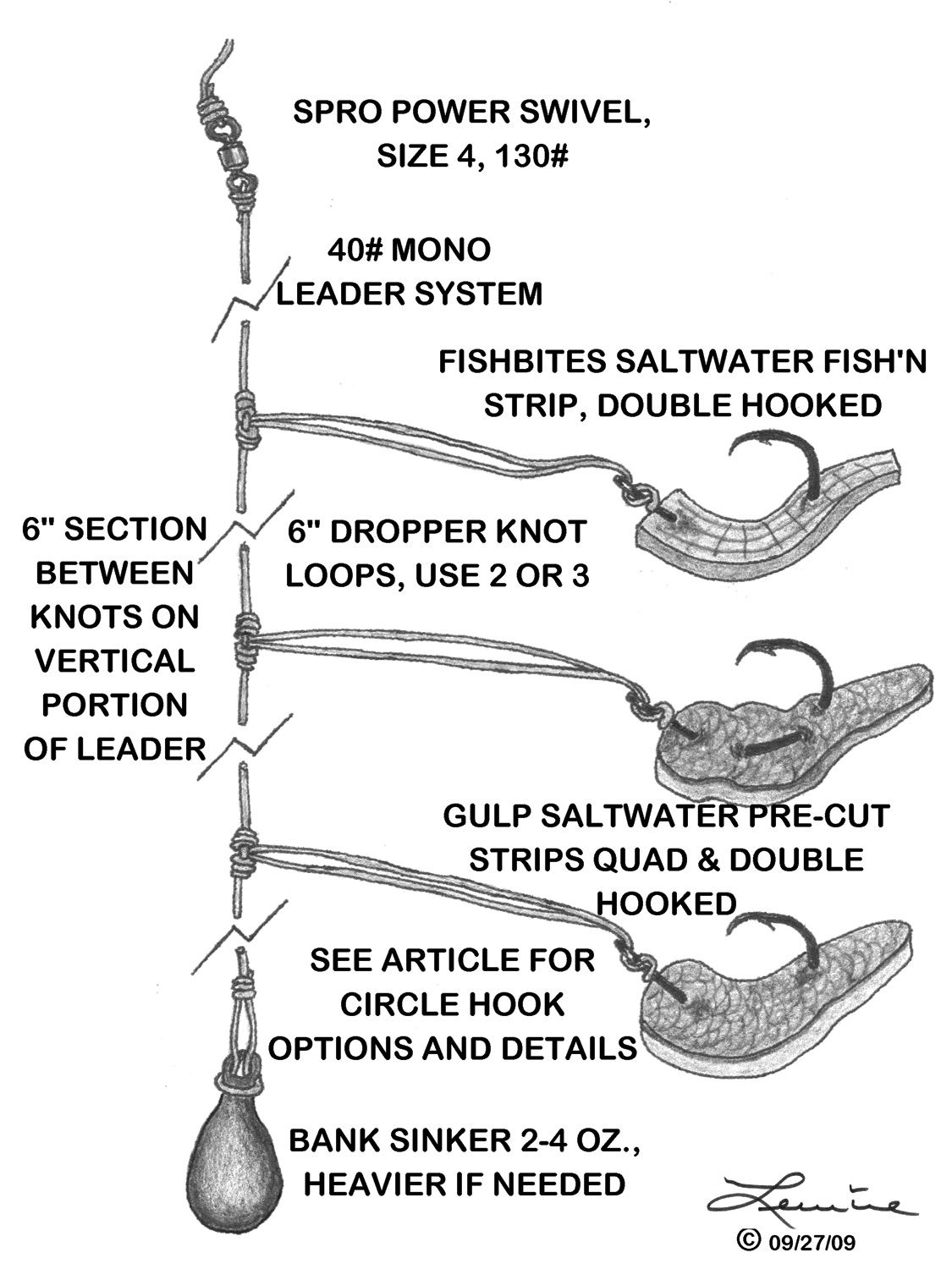 Saltwater baits and rigs vermillion candy designed as a for How to make fishing leaders