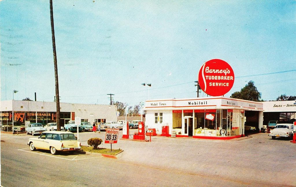 Barney's Motor Service, CA, 1957, StudebakerPackard