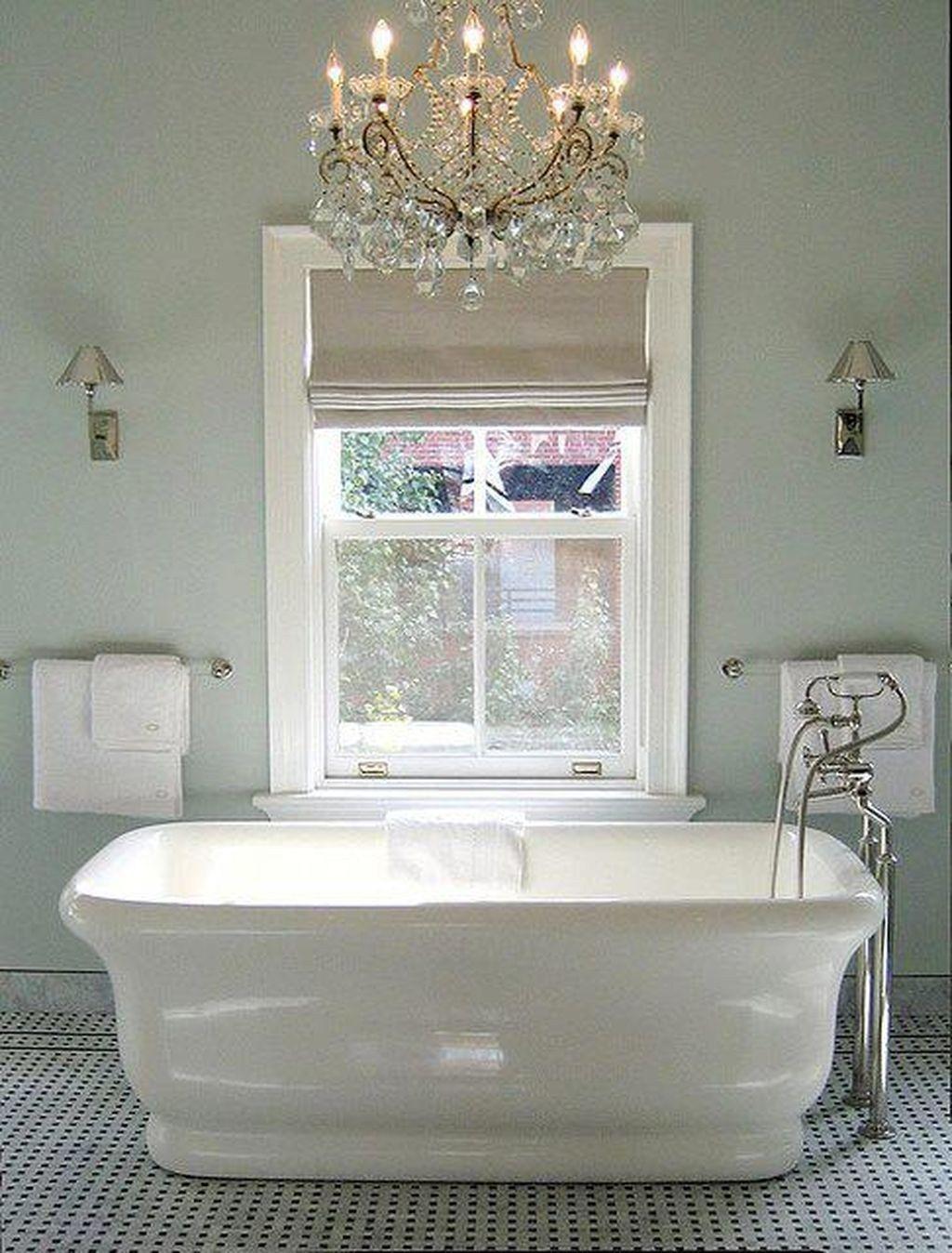 Romantic And Elegant Bathroom Design Ideas With Chandeliers ...