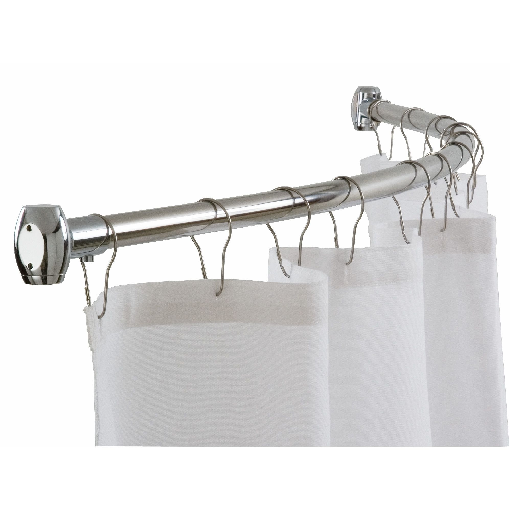 Curved Shower Curtain Rod Round Shower Curtain Rod Shower