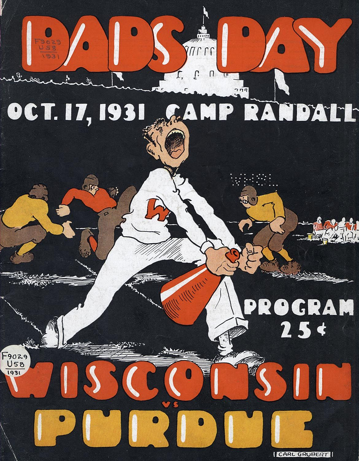 A Souvenir Program From The University Of Wisconsin Madison Dad S Day Football Game Against Purdue University At Camp Football Poster Wisconsin Badgers Purdue