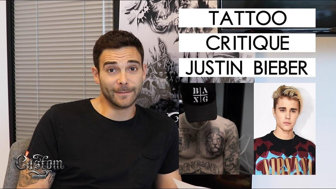 What kind of tattoo critiquing series would this be without talking about Justin Bieber ? Watch to see what our CEO, Lee Roller thinks about Bieber's tattoos!  Share your thoughts in the comments.   https://youtu.be/sw50n-uvMgc #tattooink
