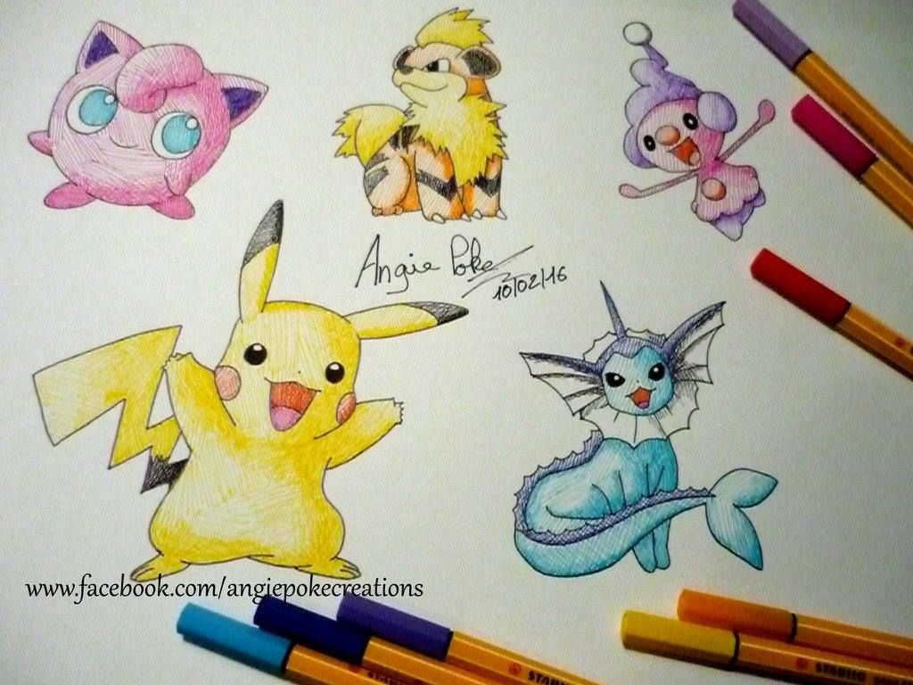 Dessin Pokemon Pikachu Aquali Rondoudou Caninos Et Mime Jr Dessin Pokemon Pikachu Pokemon