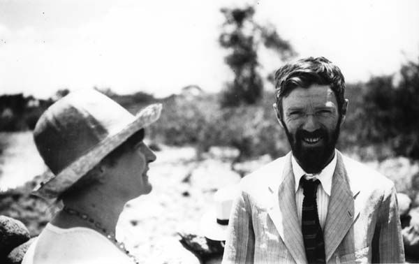 D H Lawrence & Wife, Frieda