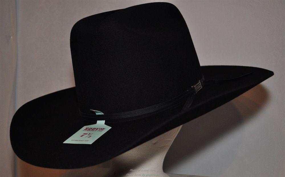 Eddy brand Cowboy Western Hat Black size 7 1 2 100% 3X Wool  Eddybrand   Western 78c17edd9cba
