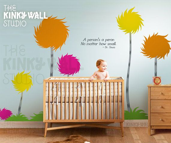 Dr Seuss Theme Humming Fishes wall decal sticker for nursery playroom kids
