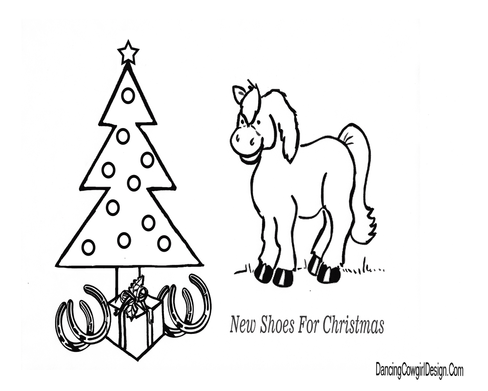 Horse And Christmas Tree Coloring Page Christmas Tree Coloring Page Christmas Coloring Pages Christmas Colors