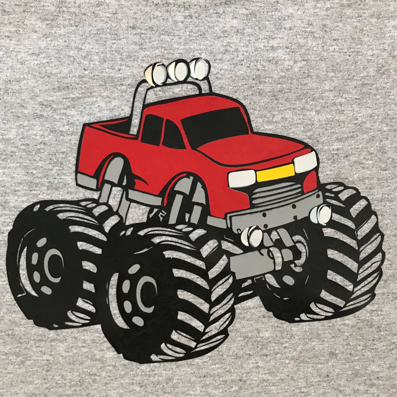 Vinyl Monster Truck Birthday Shirt