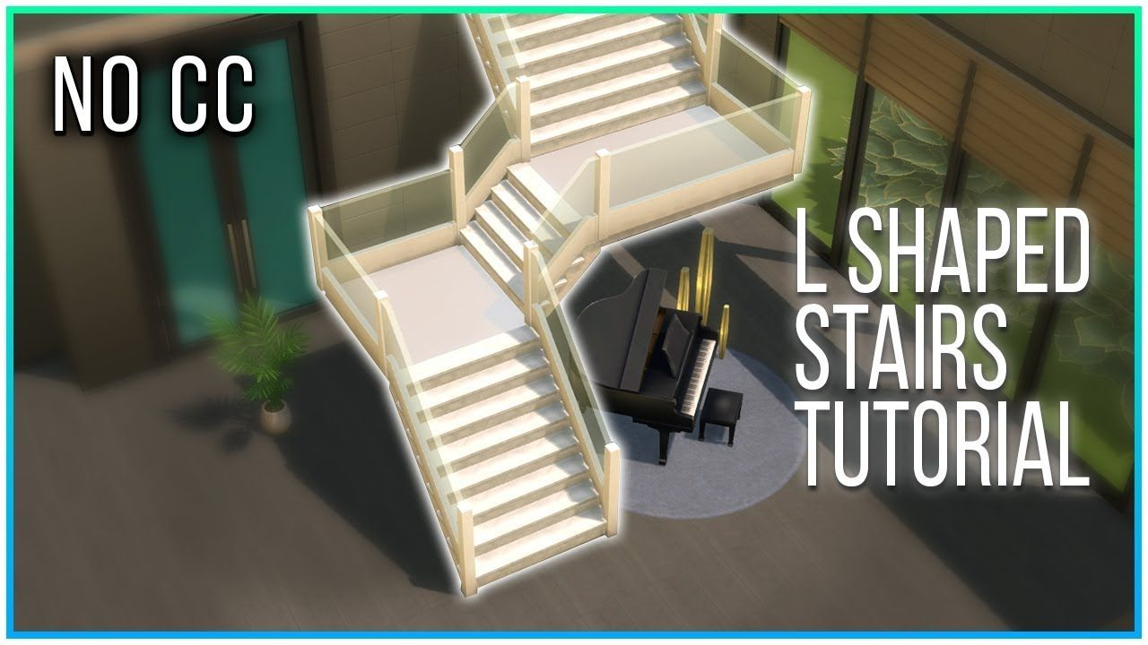 Sims 4 Tutorial Split Level Stairs 2 0 Kate Emerald Youtube