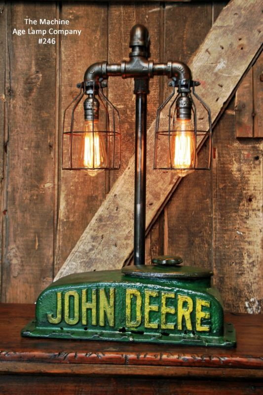 Steampunk Lamp Industrial Machine Age Steam Tractor Light John Deere Farm Gear
