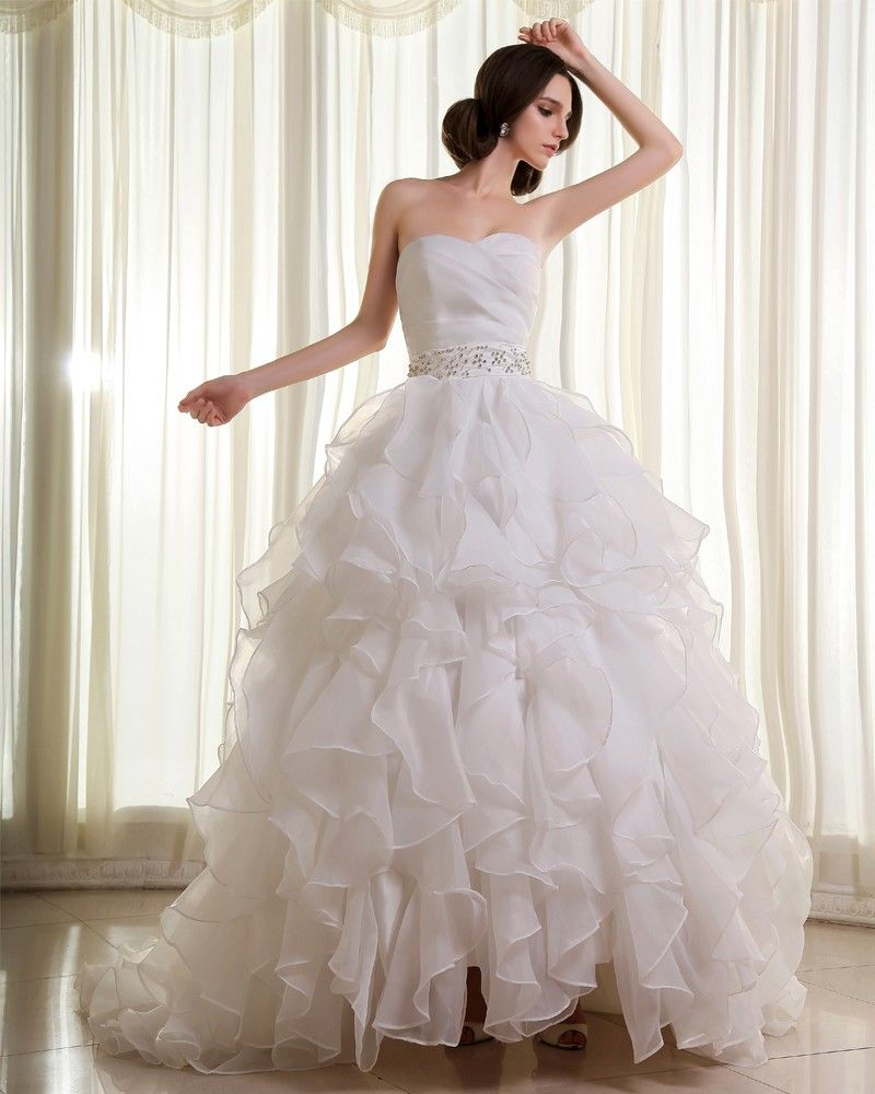 ruffles | wedding | Pinterest | Cathedral train, Ball gowns and ...