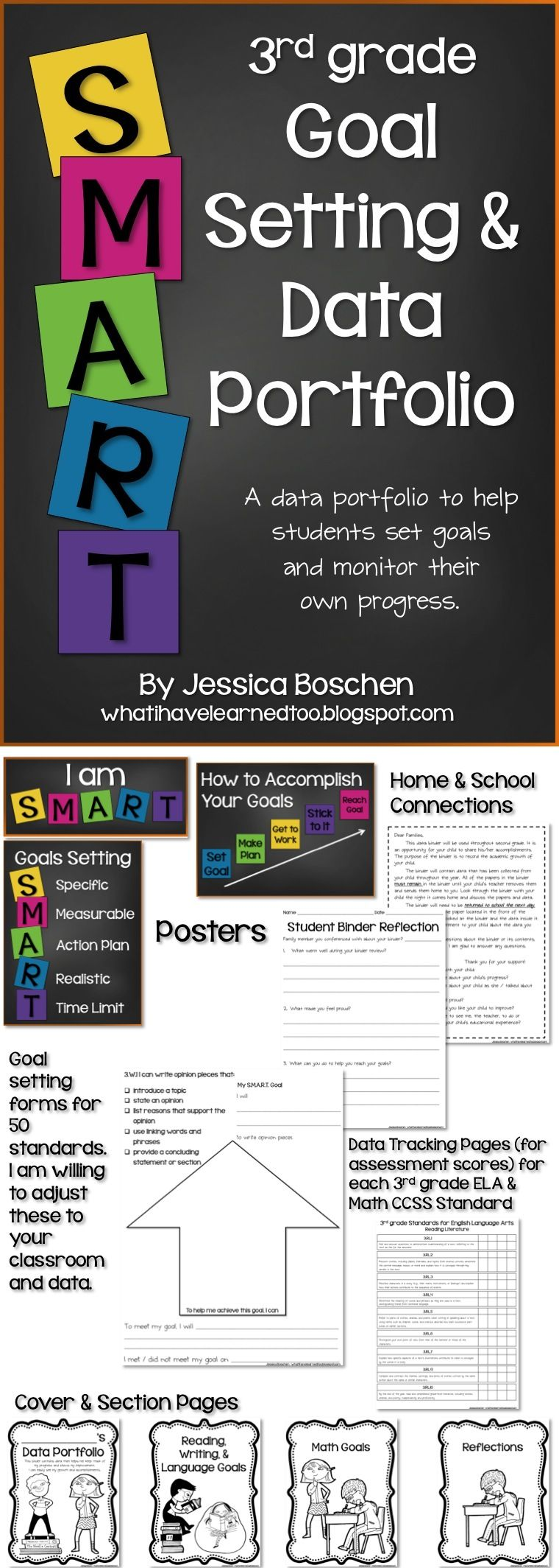 3rd grade goal setting amp data portfolio k 12 education