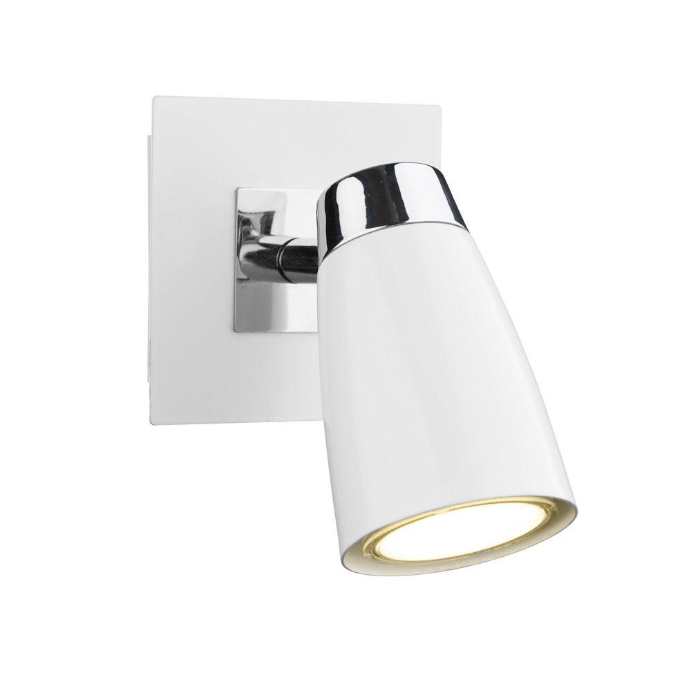 Dar lof072 loft 1 light matt white switched wall spotlight wall dar lof072 loft 1 light matt white switched wall spotlight aloadofball Gallery