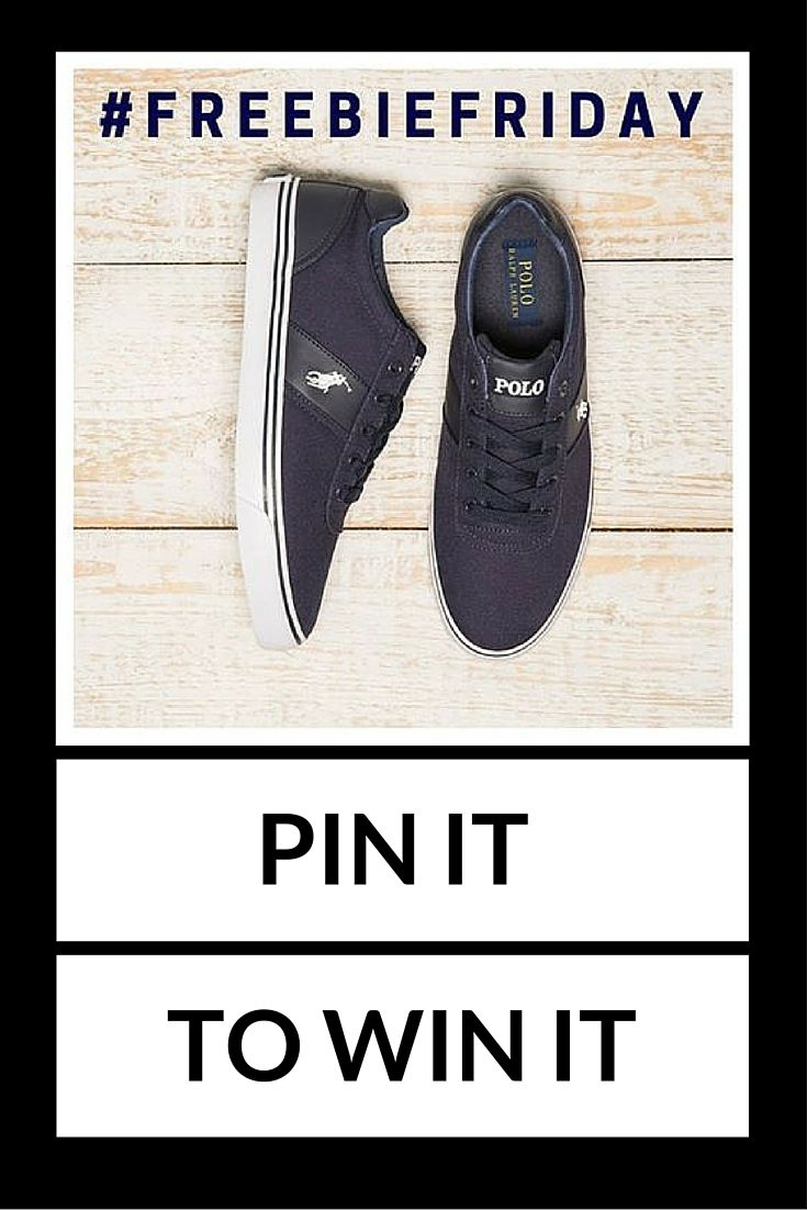 For your chance to win a pair of Polo Ralph Lauren trainers just simply re-pin this post, follow us and comment telling us why we should pick you! #freebiefriday #pinterestcompetiton *Subject to availability. Competition closes at 5pm. Winner announced on our Facebook page on.fb.me/1NFgX83