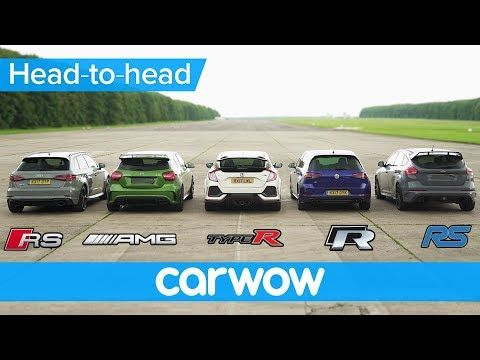 Rs 3 V A45 Amg V Civic Type R V Golf R V Focus Rs Drag Rolling Race Head To Head Youtube Cars A45 Amg Audi Rs3 Focus Rs