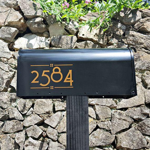 Craftsman Mailbox Numbers 2 Sets Arts Crafts Custom Etsy Craftsman Mailboxes Custom Mailboxes Craftsman