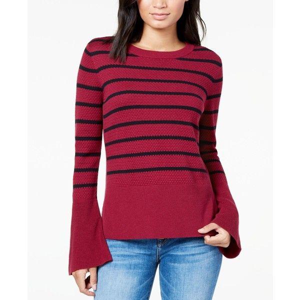 Buffalo David Bitton Bell-Sleeved Mixed-Knit Sweater ($70 ...