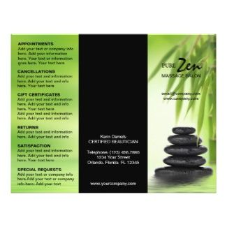 Massage Brochure Samples  Customizable Brochure For Spa Massage