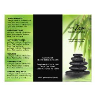 Massage Brochure Samples | Customizable Brochure For Spa Massage ...