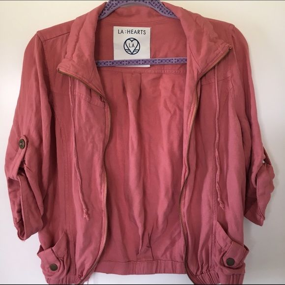 Salmon/Pink Jacket Great condition! Zip up jacket! {MAKE AN OFFER ...