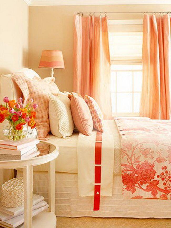 Peach Colour Bedroom