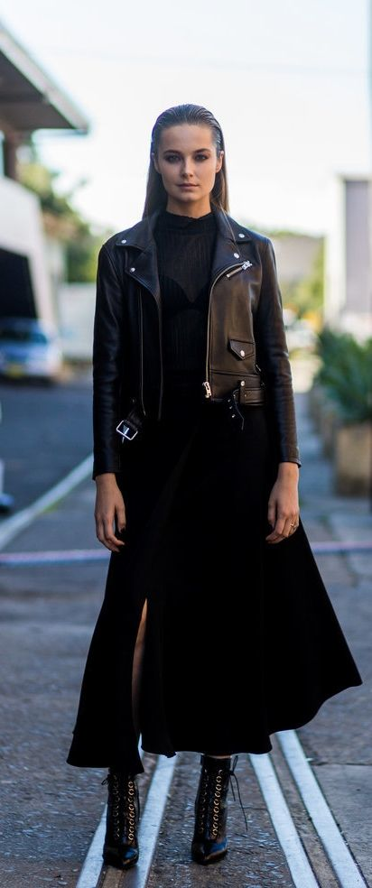 All Black Isn't Boring With Edgy Leather Statement Pieces