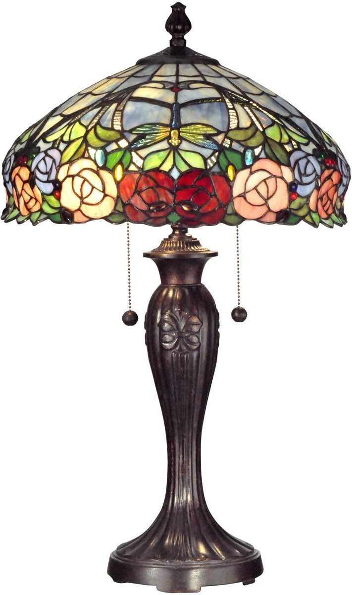 27 inchh zenia rose and dragonfly design 2 light table lamp 27 inchh zenia rose and dragonfly design 2 light table lamp fieldstone bonito aloadofball Images