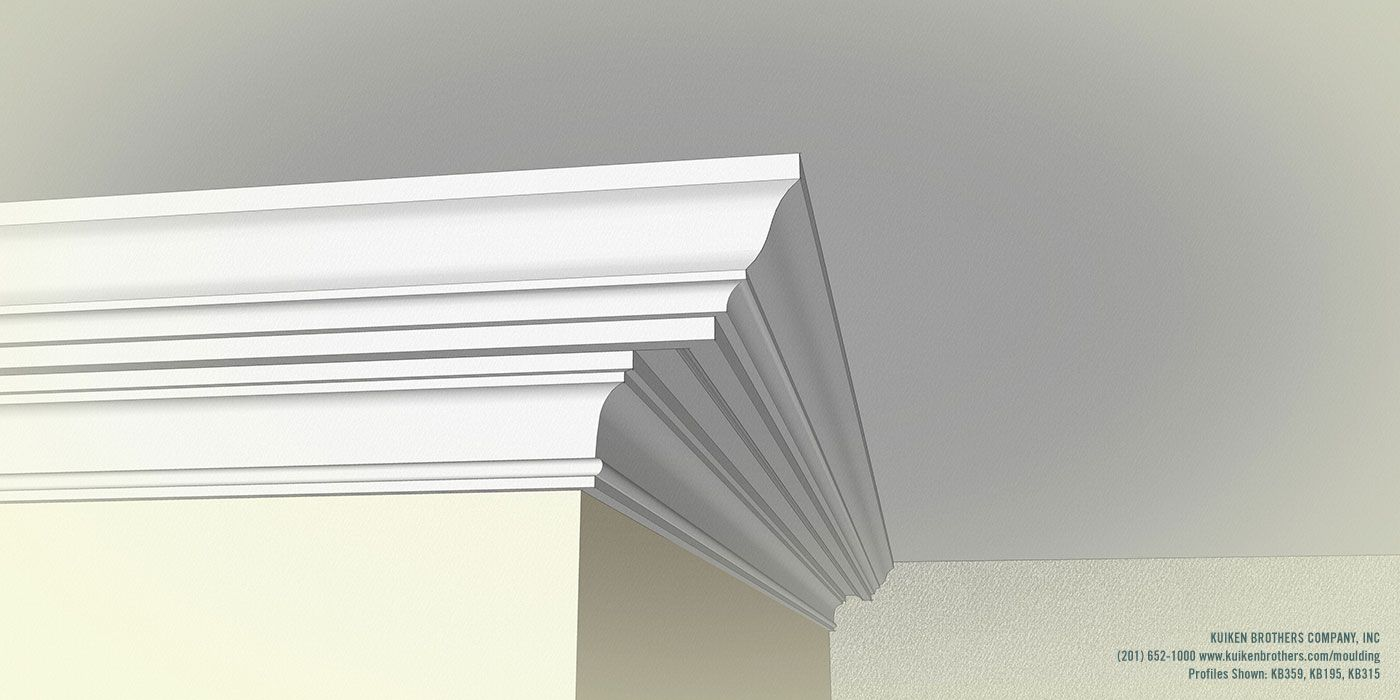 Colonial Revival Crown Combination Kuiken Brothers Colonial Revival Millwork Cornice Moulding