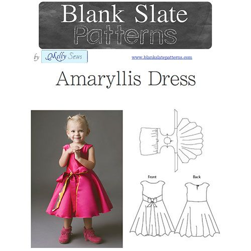 Blank Slate Patterns Amaryllis Dress Sewing Pattern - The Amaryllis Dress can go from casual to party with just a flip. And the ingenious wrap construction means that even a beginner can handle this – no buttonholes and no zippers!This dress also features maximum twirl with great coverage due to the top circle skirt over a gathered underskirt. And the front tie helps adjust for a perfect fit.Slightly capped sleeves work well on their own, or over a long sleeved shirt for extra warmth. ...