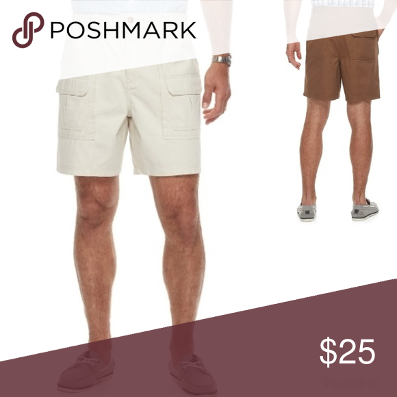 c6fc6d67 Classic-fit Side Elastic Cargo Shorts 44 New Men's Croft & Barrow Cargo  Shorts Color Silver Birch sz44 Explore your world in style and comfort with  these ...