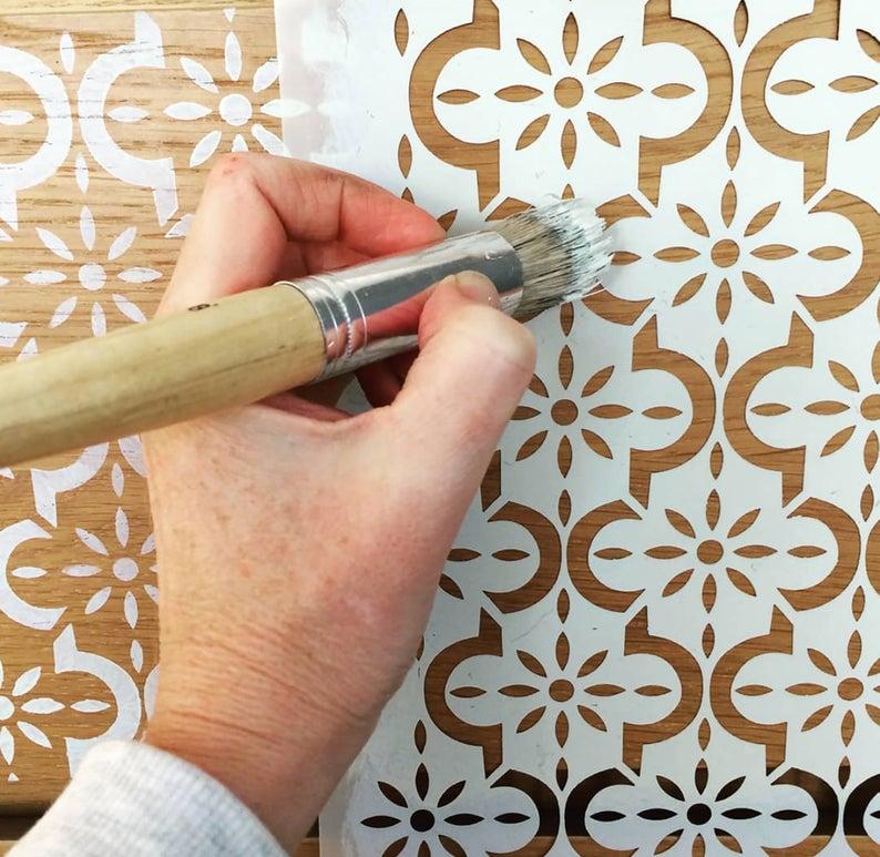 Medina Stencil for Furniture - Moroccan stencil -