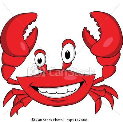 vector funny crab cartoon stock illustration royalty free rh pinterest co uk free clipart crab pictures free blue crab clipart
