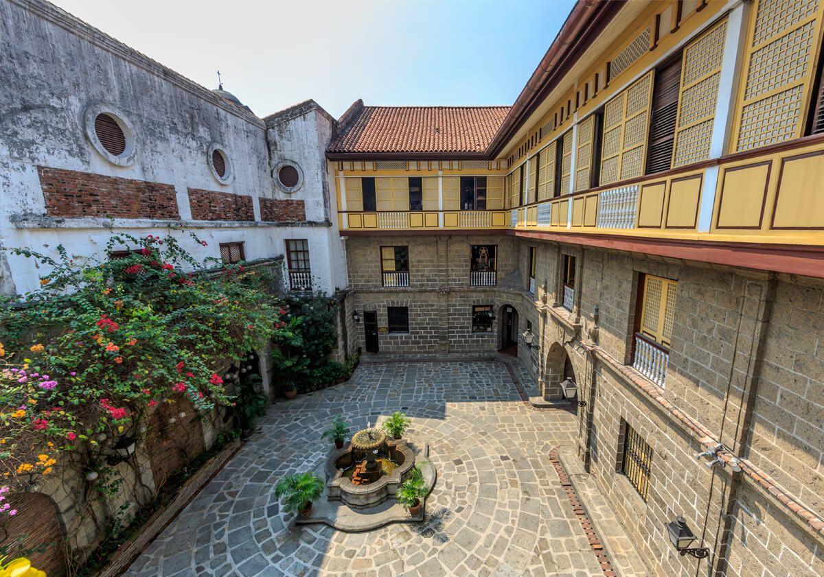 Casa Manila Patio Hizon S Catering Wedding Reception Venues Fort Santiago Philippine Architecture