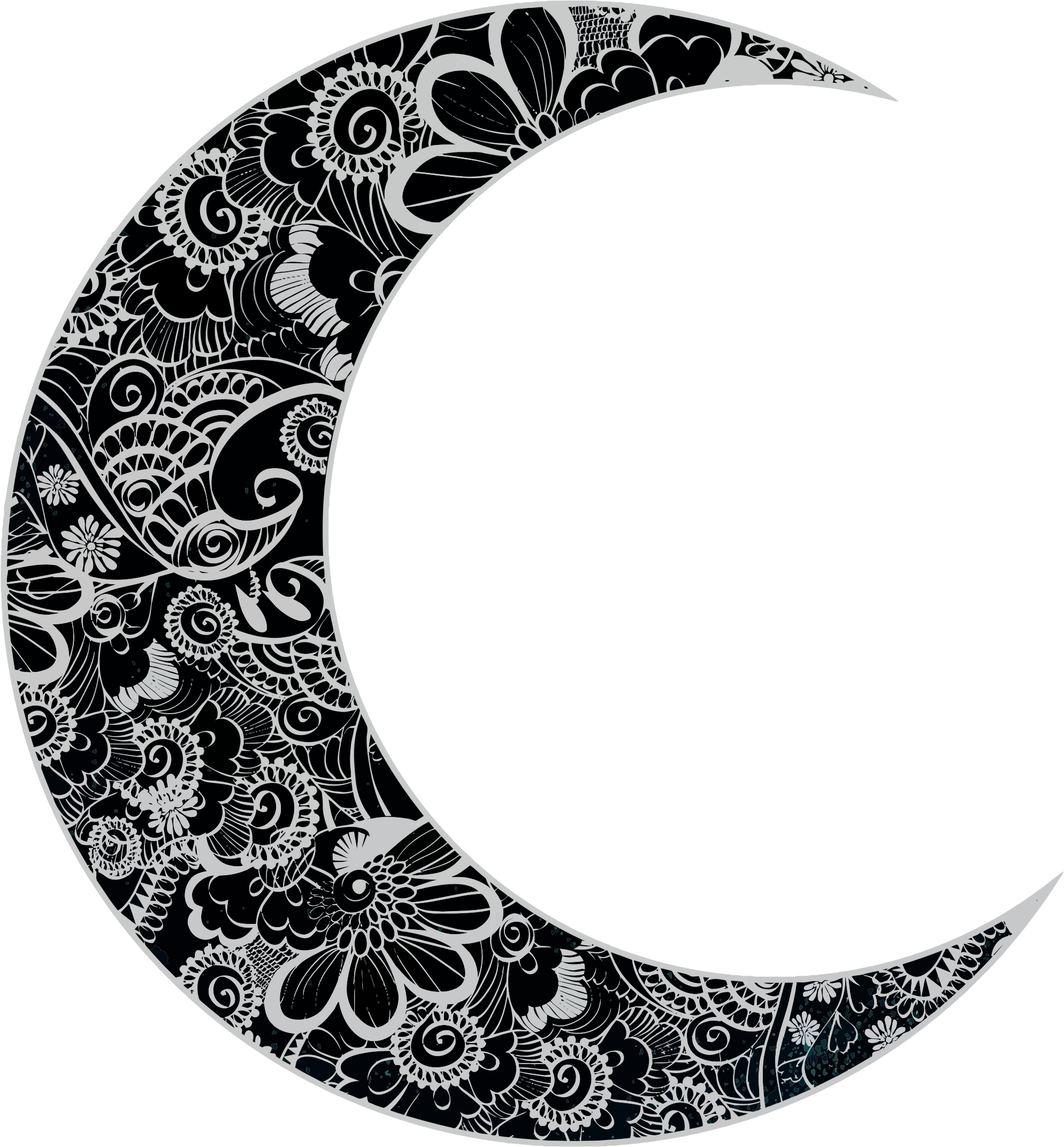 Floral Crescent Moon by GDJ | tattoo. | Pinterest | Floral ...
