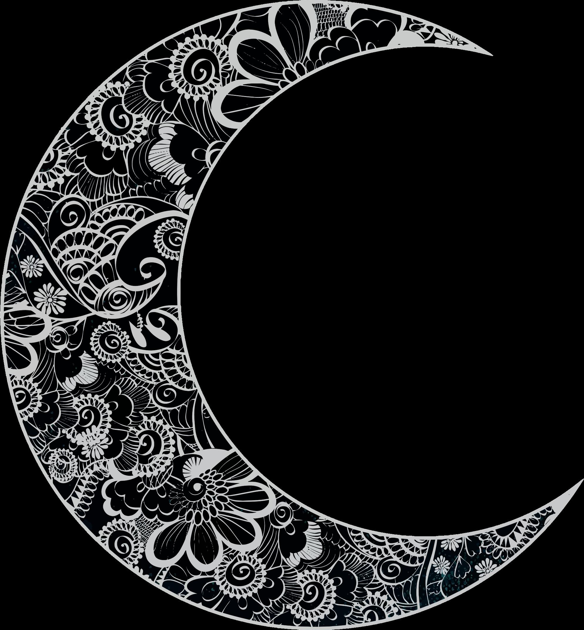 Floral Crescent Moon Moon Tattoo Crescent Moon Tattoo Crescent Moon Art