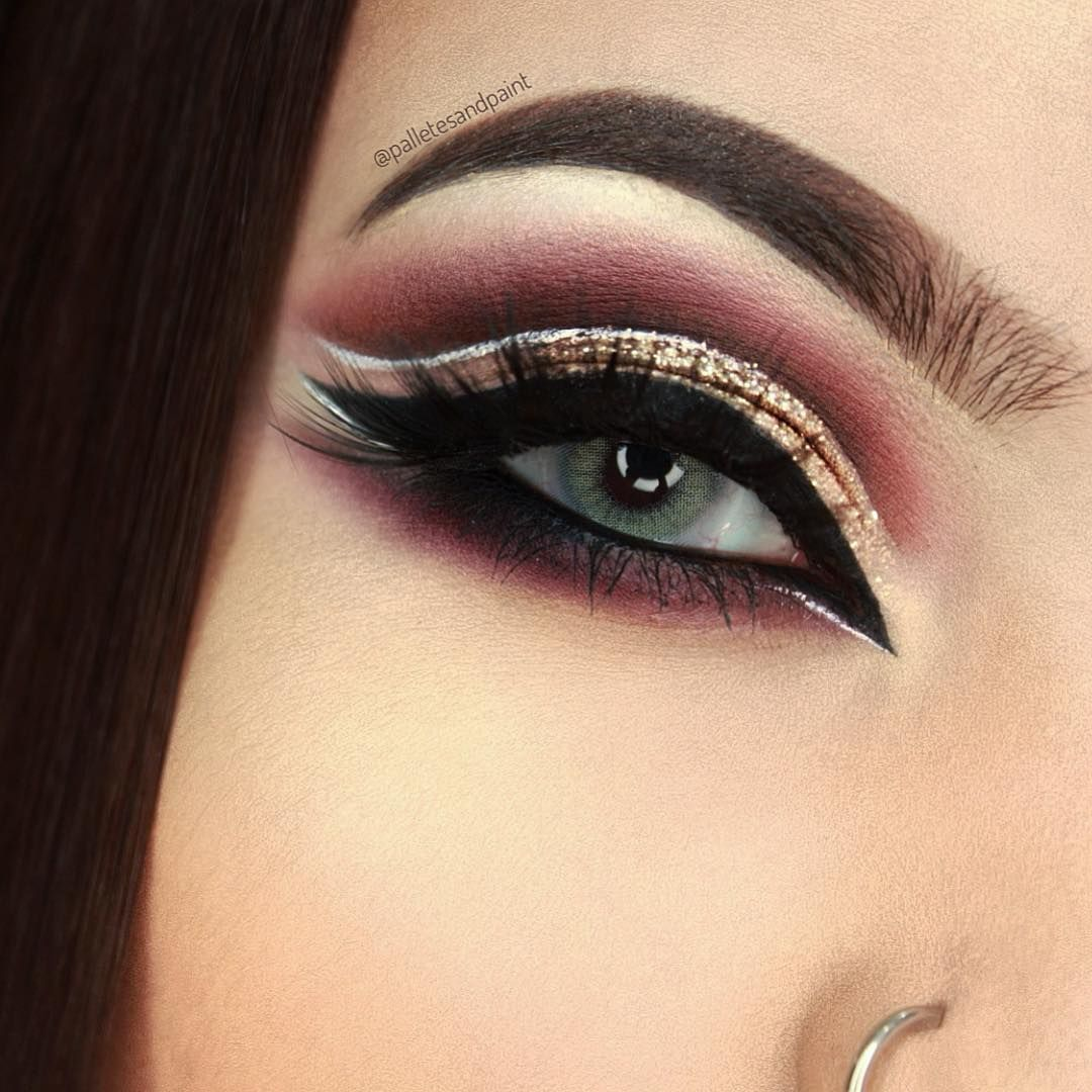 Fabulous  huda beauty desert dusk palette eye makeup ideas