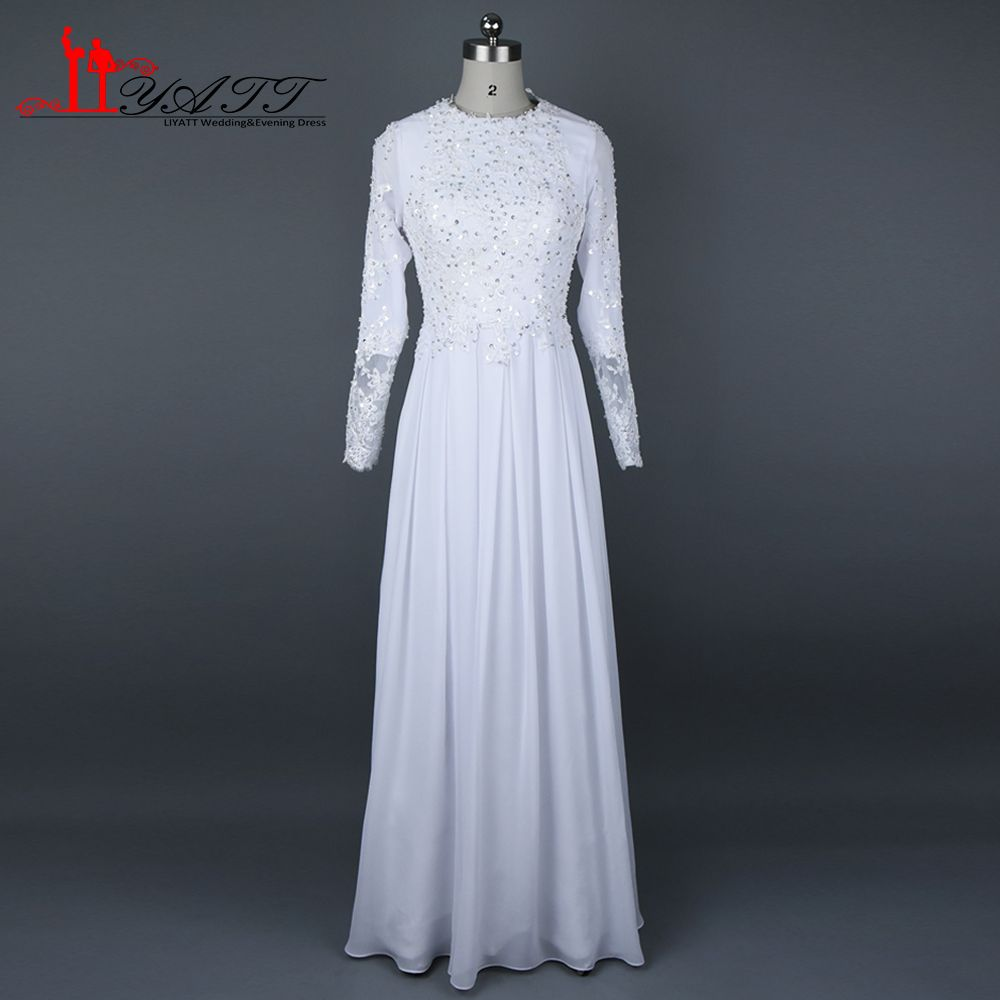 Lace dress gown  Click to Buy ucuc Lace Beaded  Muslim Arabic Evening Dresses Crew