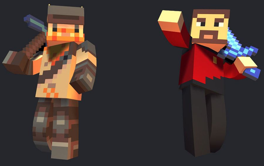 The Yogscast Lewis And Simon Yogscast Minecraft Characters Fan Picture